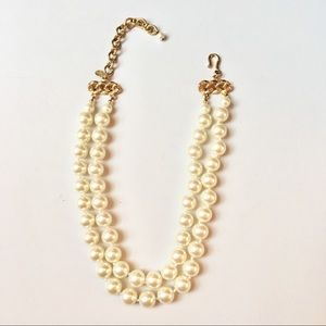 Carolee two strand faux pearl necklace